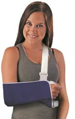 Tapered Arm Sling & Shoulder Immobilizer Velcro Closure w/ Thumb Loop