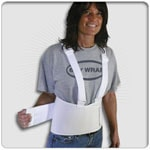 White Lift Belt with Shoulder Straps