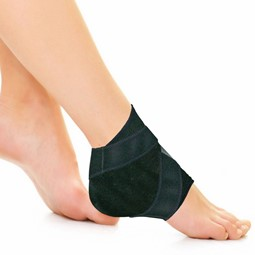 Cryotherapy Ankle Wrap - 1 Pocket - Black
